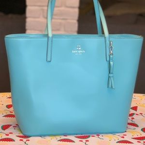 Kate Spade adorable blue tote handbag low price